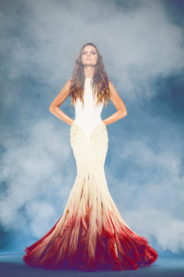 Ombre Wedding Dress – shared on Brit + Co | Unique Pastiche Events
