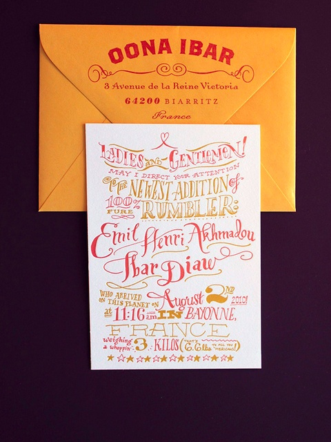 Colorful Wedding Invitation – spotted on Pinterest
