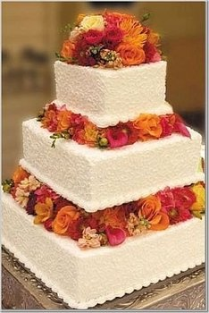 Autumn Wedding Cake – shared on Project Wedding
