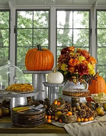 Pumpkin Food Buffet Display – shared in a roundup on By Stephanie Lynn