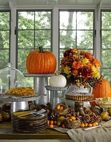 Pumpkin Food Buffet Display – shared in a roundup on By Stephanie Lynn