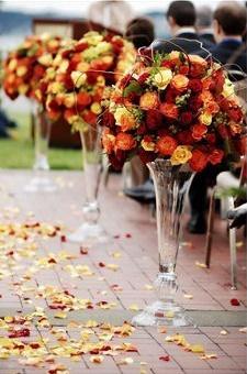 Autumn Wedding Aisle Decor Shared By Elizabeth Jane Events