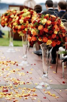 Autumn Wedding Aisle Décor – shared by Elizabeth Jane Events