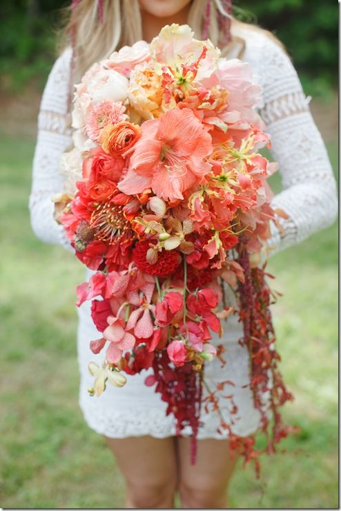 Ombre Coral Red Bouquet – shared by Mayesh Wholesale Florist