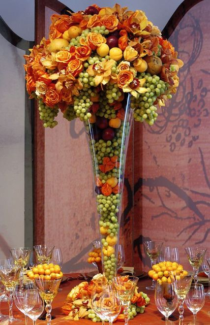 Grape and Floral Centerpiece – shared by Preston Baily