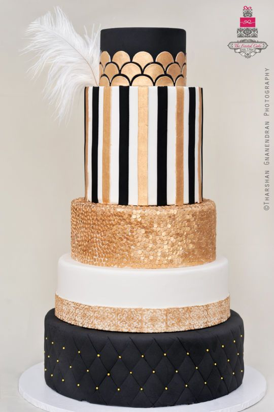 Art deco unique pastiche events for Art deco cake decoration