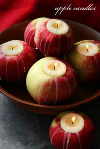 Apple Candles - spotted on Pinterest