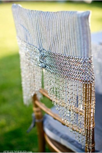 Beaded Chair Cover – spotted on Pinterest