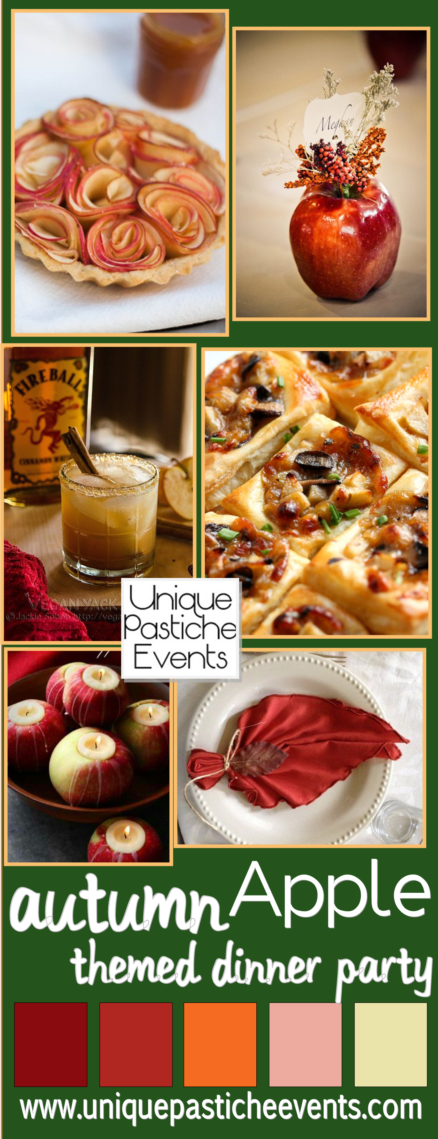 apple themed fall dinner party unique pastiche events
