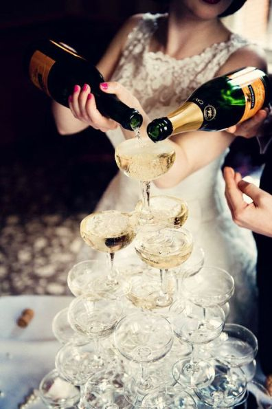 Champagne Tower – shared on Love Luxe Blog