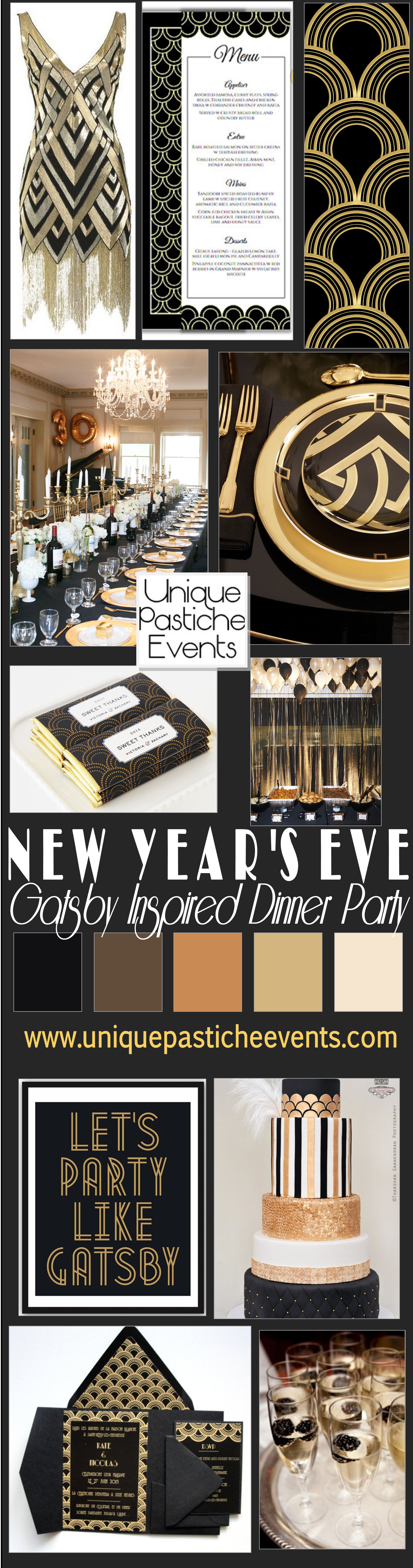 Gatsby Inspired New Year's Eve Dinner Party Ideas | Unique ...