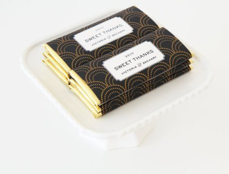 Art Deco Scallop Candy Bar Wrappers – made by tableauparty on Etsy