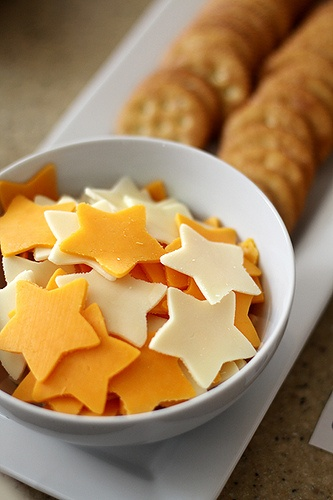 Crackers and Star Cheese Nibbles – shared by Good Life Eats