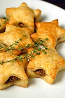 Wild Mushroom in Puff Pastries – recipe shared by DixieMockingbird