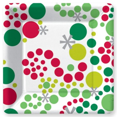 Star Dot and Swirl Paper Plates – sold by Design Design