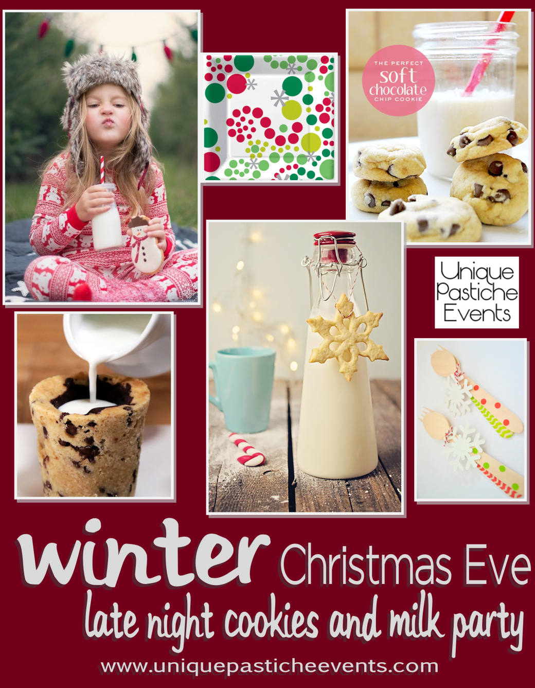 Christmas Eve Cookies and Milk Party Ideas by Unique Pastiche Events