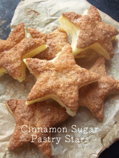 Cinnamon Sugar Pasty Star Party Snacks – recipe shared by Gathering Beauty