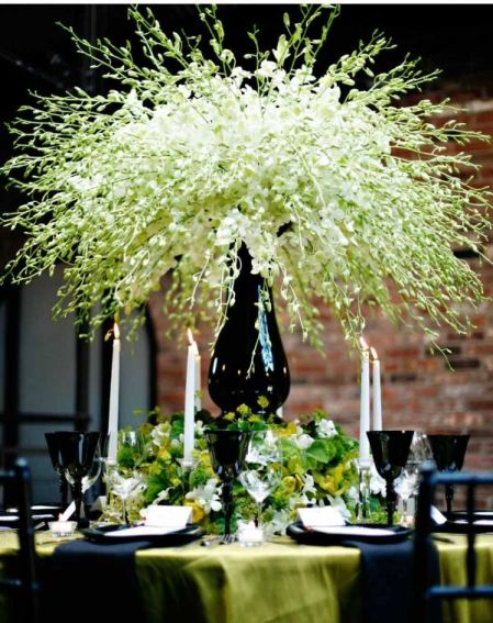 Dendrobium Explosion Centerpiece – shared on Silk Flower Depot