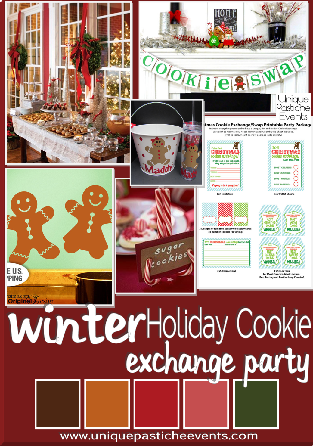 Holiday Cookie Exchange Party Ideas Get all the details here: https://uniquepasticheevents.com/2014/12/10/holiday-cookie-exchange-party-ideas/