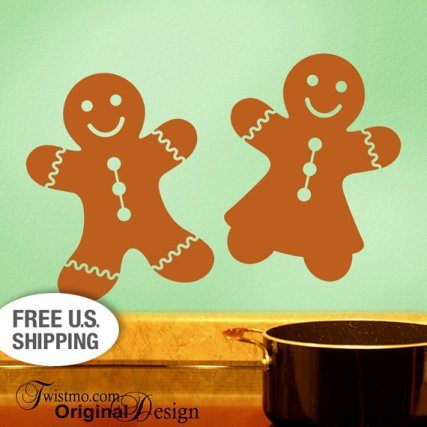 Gingerbread Décor Wall Decals – made by Twistmo on Etsy