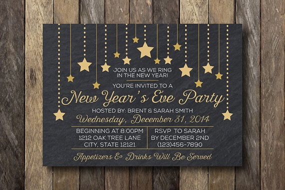 New Year's Eve Party Invitation – made by TheLionAndTheLark on Etsy