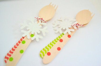 Snowflake Wooden Cutlery – made by PopFizzHooray on Etsy