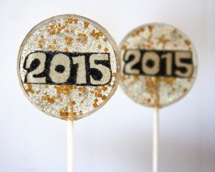 2015 Painted New Year's Eve Lollipops – made by SmashCandies on Etsy