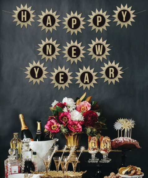 Happy New Year DIY Banner – made by Creative Union Design on Etsy