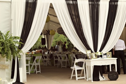 Black and White Tent – shared on Whimsy