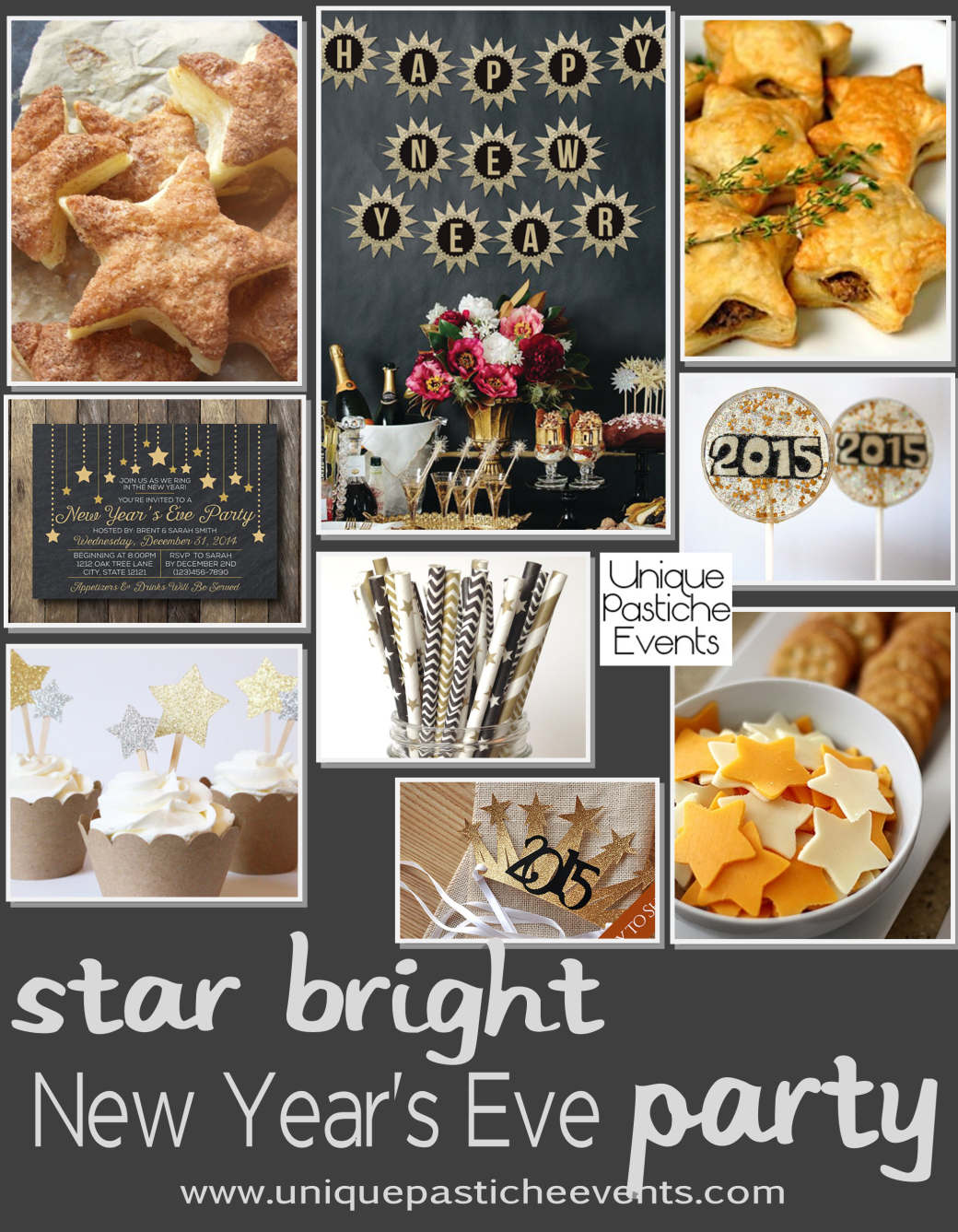 Star Themed New Years Eve Party Ideas by Unique Pastiche Events