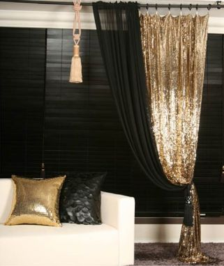 Black and Gold Sequin Lounge – spotted on Pinterest