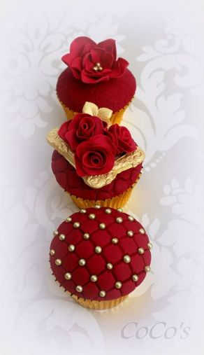 Red and Gold Cupcake Collection – shared by Lynette Brandl on Flickr