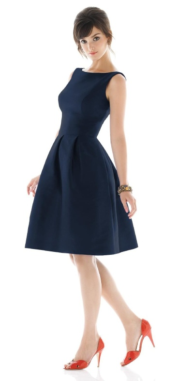 Navy Dress – sold on Weddington Way