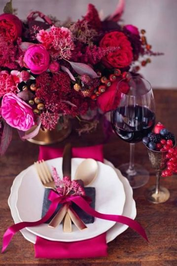 Floral Jewel Tone Tablescape – spotted on Pinterest
