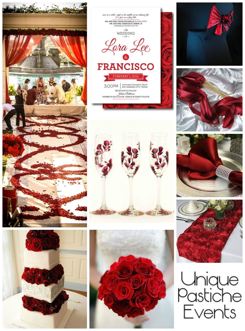 A Red, Red Rose - Wedding Inspiration Board