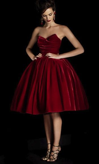 Dolce & Gabbana's Velvet Cocktail Dress in Red Velvet – shared on Net-A-Porter