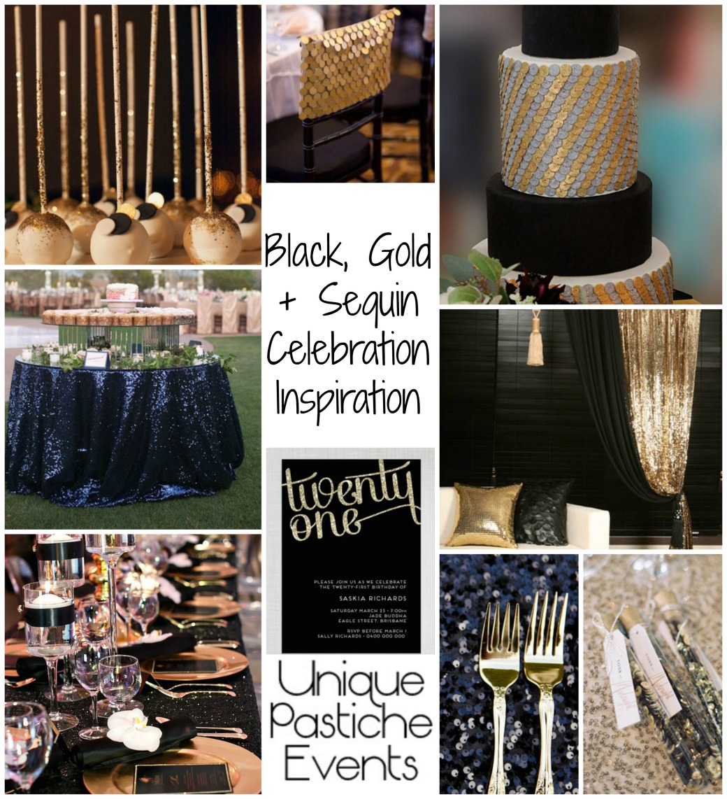Black, Gold + Sequin Celebration Inspiration