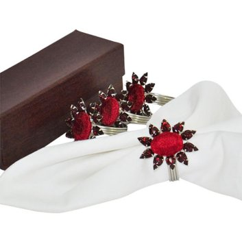Velvet Flower Napkin Rings – sold by UltimaDecor on Etsy