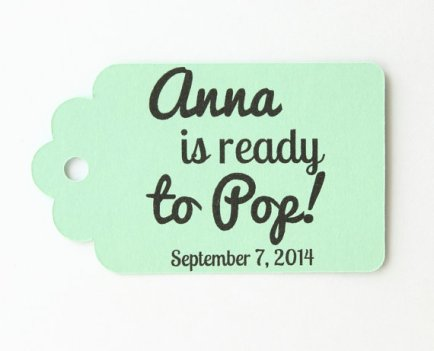 Ready to Pop Mint Thank You Tags – made by MailboxHappiness on Etsy