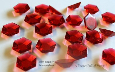 Burgundy / Garnet Edible Sugar Jewels Candies – made by APocketFullofSweets on Etsy