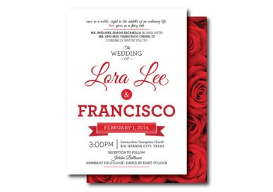 Red Rose Wedding Digital Invitation – made by PinkTexasPrint on Etsy