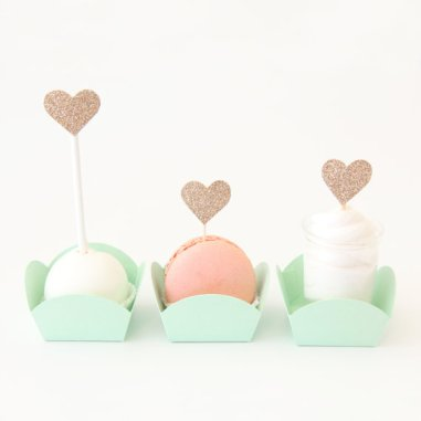 Mint Green Mini Dessert Candy Cups – made by TableauParty on Etsy