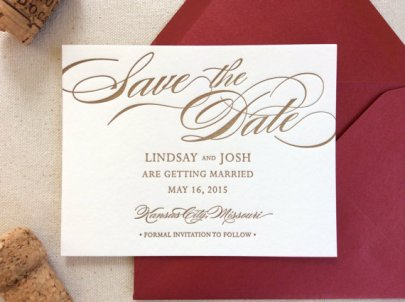 The Begonia Suite Letterpress Invitation – made by DinglewoodDesign on Etsy