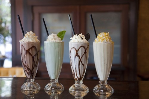 Mint Chocolate and Oreo Milkshakes – shared in a roundup post on Endless Simmer