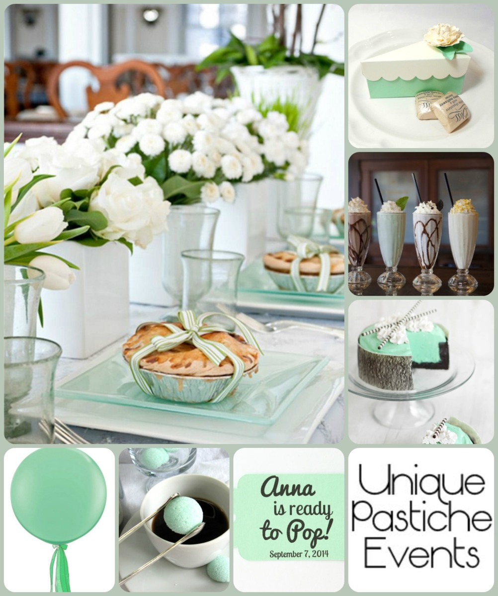 Mint And White Baby Shower Ideas