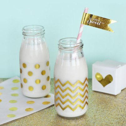 Gold Chevron and Polka Dot Party Labels Set – made by ModParty on Etsy