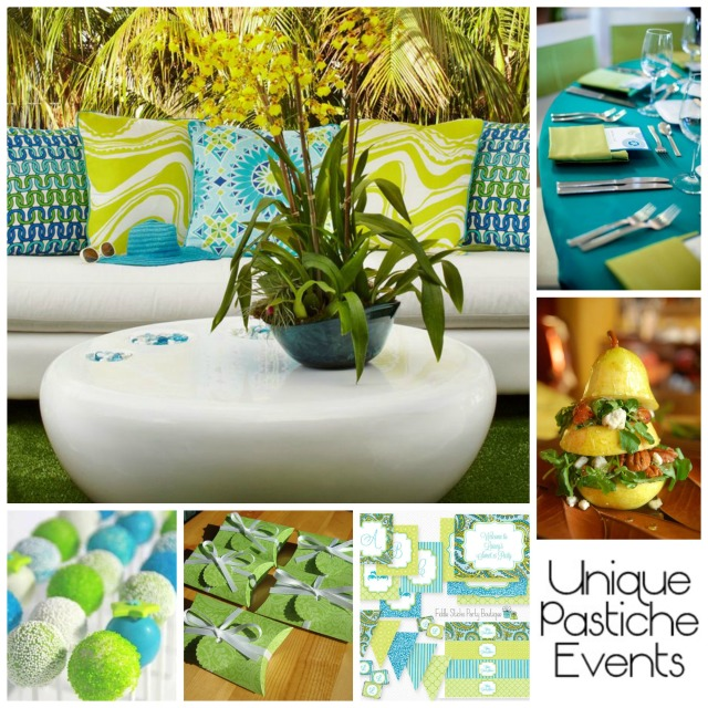 Lime and Turquoise Spring Luncheon by Unique Pastiche Events