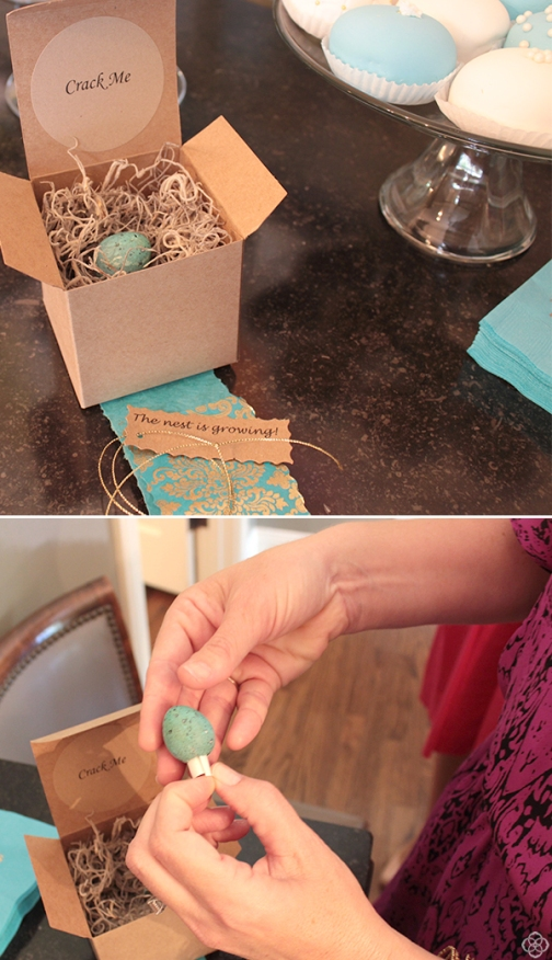 Speckled Egg in Nest Invitation – shared by Kendra Scott