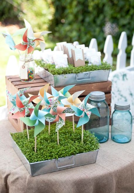 Pin Wheel Favors - shared on Cake Events Blog