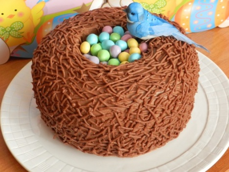 Easter Bird Nest Cake – recipe and tutorial by The Vanilla Bean Baker